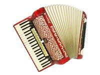 horch 120 bass accordion ,, good play .good condition
