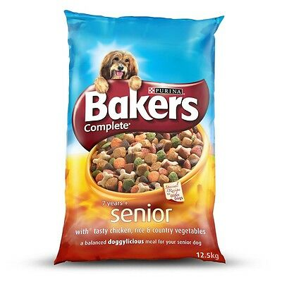 Bakers Complete with Chicken Senior Dog Food 12.5kg