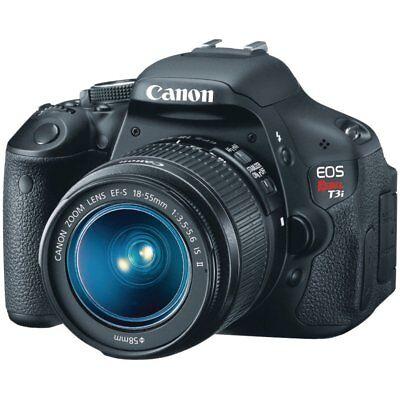 Canon EOS Rebel T3i 18.0MP - Black (Kit w/ EF-S 18-55mm f/3.5-5.6 IS Lens (T3i Canon Kit)