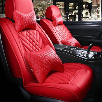 5-Sitz Auto PU-Leder Sitzbezüge Sitzbezug Komplettsatz Schonbezüge für BWM Audi