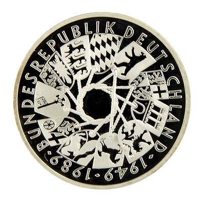 """10 DM Gedenkmünze 1989 (G) - """"40 Jahre Bundesrepublik Deutschland"""" (pp)"""