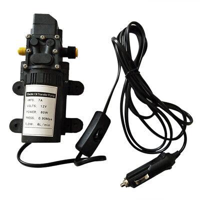 12v Fuel Transfer Pump Oil Diesel Gas Gasoline Kerosene Fluid Extractor 5lmin