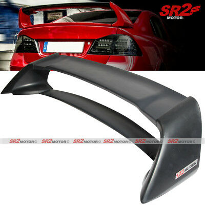 Honda Civic Hybrid Trunk - Mugen style RR Rear Trunk Spoiler Wing Lip Unpainted for 06-11 Honda Civic Sedan