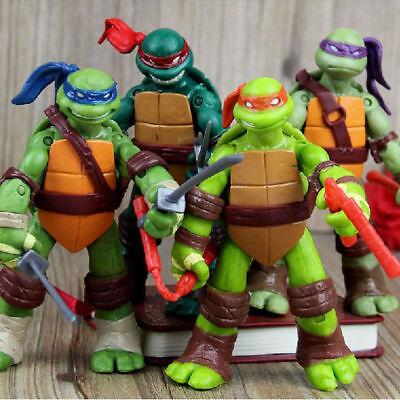 Teenage Mutant Ninja Turtles 4 PCS TMNT Classic Collection Action Figures Toy US