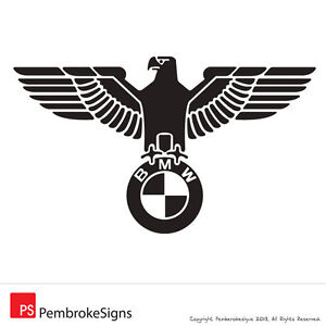 2 x BMW German Eagle Sticker Decal - 1 Series, 3 Series, M3, M5, 325i, 330i