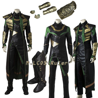 Hot Cakes Film Thor The Dark World Loki Cosplay Costume Full Suit with Shoes ](Loki Womens Costume)