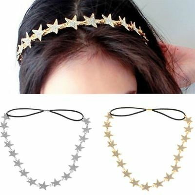Headbands Star Headband Accessories Women Band Hair Jewelry Metal Pentagram (Star Headband)