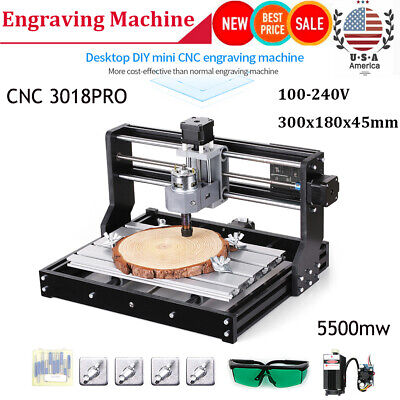 Cnc 3018pro Diy Engraving Router Carving Milling Cutting Machine 5500mw Y4z7