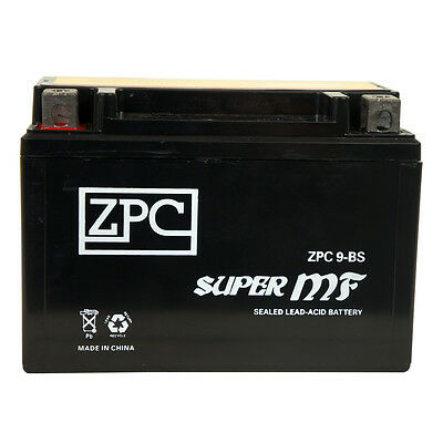 YTX9-BS  High Performance - Maintenance Free - Sealed AGM Motorcycle Battery