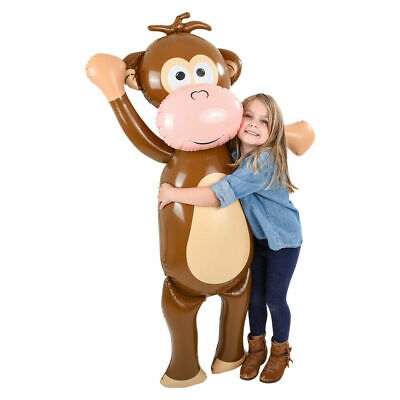 "Blow Up Animals (HUGE 57"" Monkey Inflatable Blow Up Party Decoration Pool Beach)"