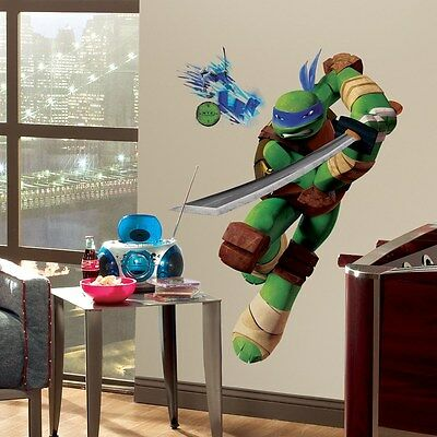 New Giant LEONARDO WALL DECALS Teenage Mutant ...