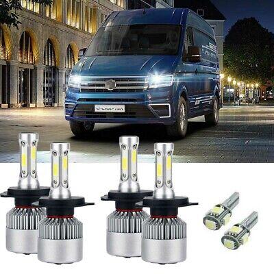 For VW Crafter 2006-2016 High Main Beam H7 Xenon Headlight Bulbs Pair Lamp