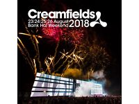 CREAMFIELDS BRONZE 4 DAY CAMPING TICKET (FT DIPLO, ANDY C, TIESTO AND MORE)