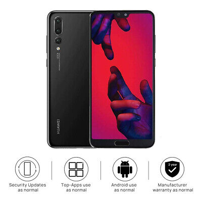 "Brand New Huawei P20 Pro Black 6.1"" 128GB 4G LTE Android Sim Free Unlocked UK"