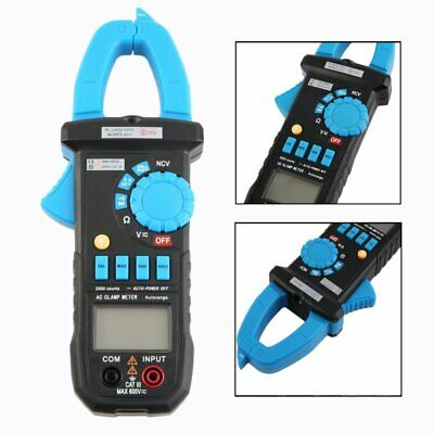 Digital Clamp Ac Multimeter Amp Voltage Meter Resistance Tester Lcd Highaccuracy