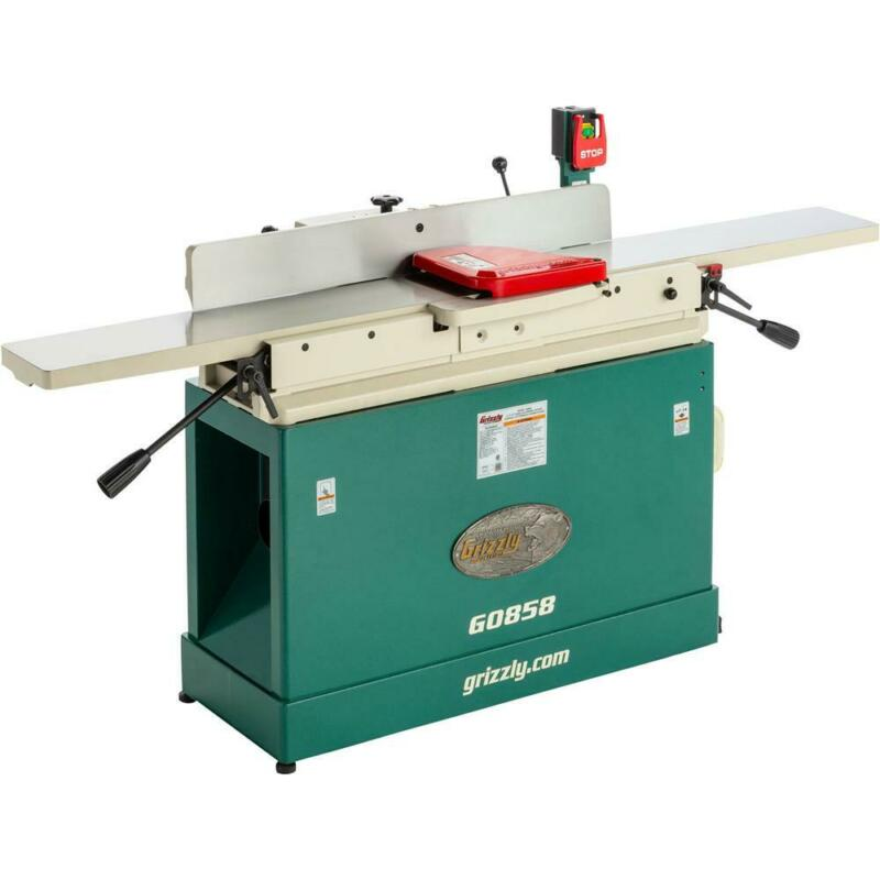 """Grizzly G0858 8"""" x 76"""" Parallelogram Jointer with Helical Cutterhead & Mobile..."""