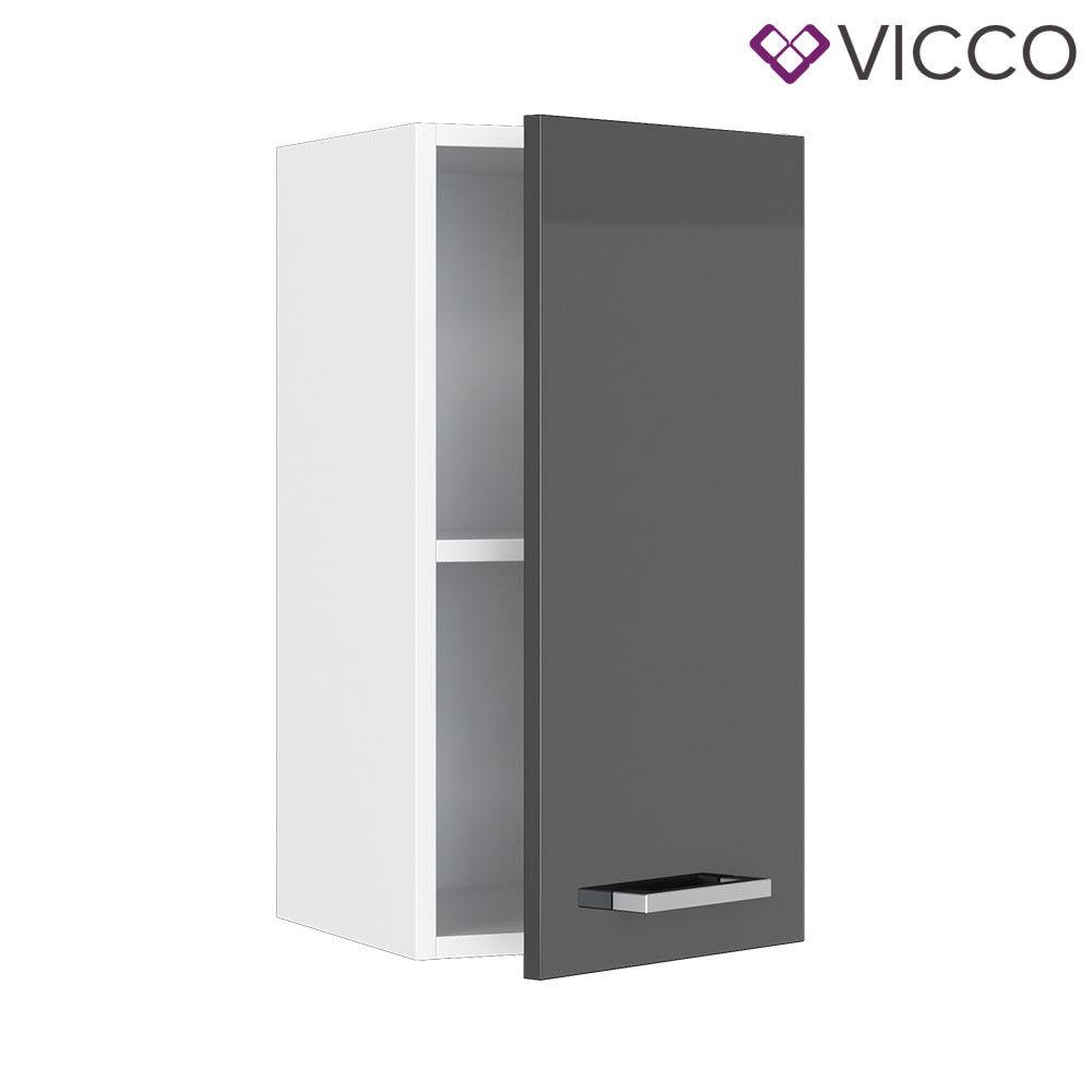 VICCO Küchenschrank Hängeschrank Unterschrank Küchenzeile R-Line Hängeschrank 30 cm anthrazit