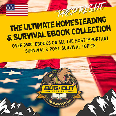 Ultimate Survival 9500+ Ebook Collection! Homesteading Defense Survival NO FLUFF
