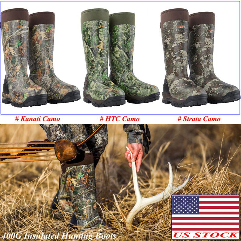 HISEA Apollo Pro Hunting Boots 400G Insulated Rain & Snow Rubber Working Boots