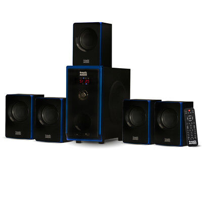 Acoustic Audio AA5102 Bluetooth Powered 5.1 Speaker System Home Theater Surround