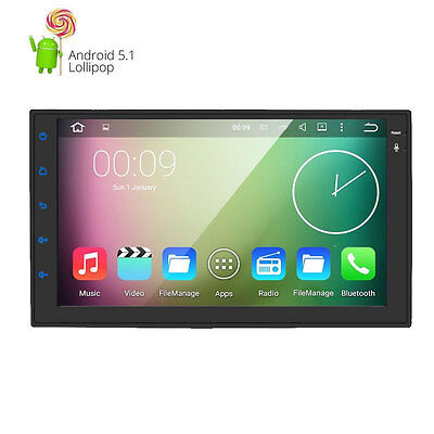 """QUAD-CORE Double 2Din Android 5.1 Car Stereo Radio 7""""Touch GPS USB NO DVD DAB+"""