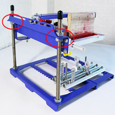 Universal 6x8 Inches Cylindrical Screen Printing Machine For Curved Object New
