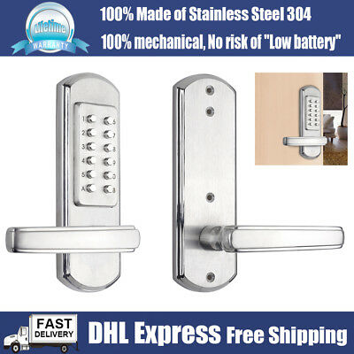 Mechanical Door Lock Keyless Entry Handle Lever Locks Digital Keypad Combination