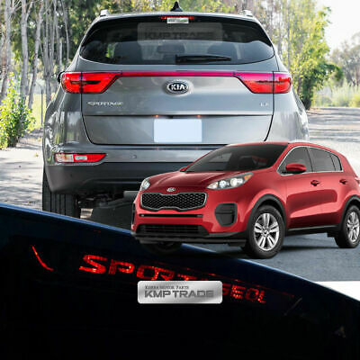 Carbon Rear Brake Light Mask Decal Sticker Cover for KIA 2017-18 Sportage QL