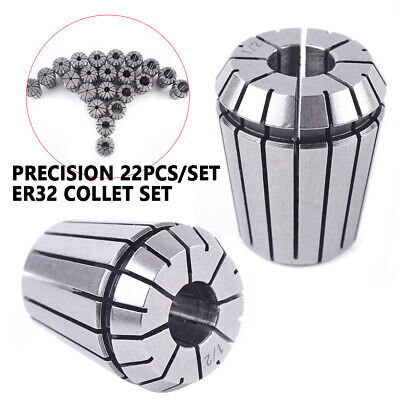 New Er32 22pcs Spring Collet Set For Cnc Milling Lathe Tool Engraving Machine