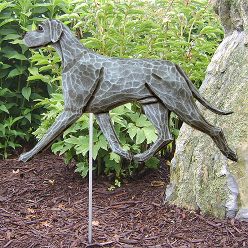 Great Dane Outdoor Garden Sign Hand Painted Figure Blue Uncropped