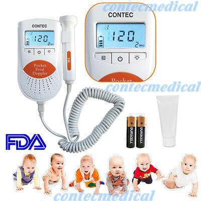 Fda Sonoline B Fetal Doppler 3mhz Probe Baby Heart Monitor Backlight Lcd Gel