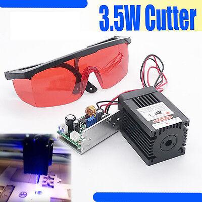 450nm 3.5w-4w Blue Laser Module Ttl Carvingburningengraning Gift Goggles