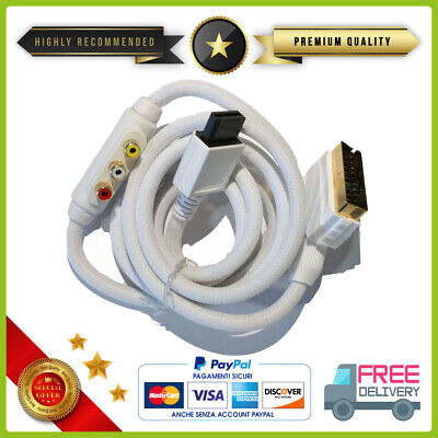 Cable Scart Para Wii Nintendo Wii/Wii U Scart Cable Para Av Lead...