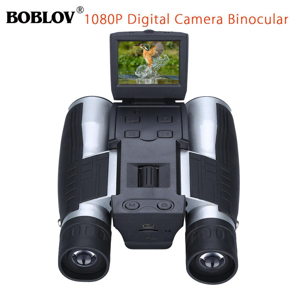 "BOBLOV 2/"" TFT 1080P 12X32 Digital Folding Binocular Camera Telescope for Camping"