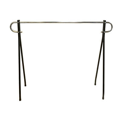 62x19x64 Inch Height Commercial Single Bar Black Clothing Rack Retail Display
