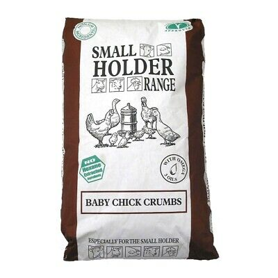 Allen & Page Small Holder Range Baby Chick Crumbs - Poultry Chicken Feed - 20kg