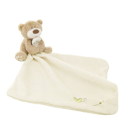 Baby Soft Teddy Bear Comforter Blanket Safe Cloth Toy for New Born