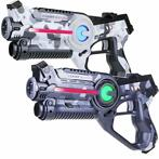 Light Battle Active Camo Laserguns - Grijs/Wit - 2 Pack
