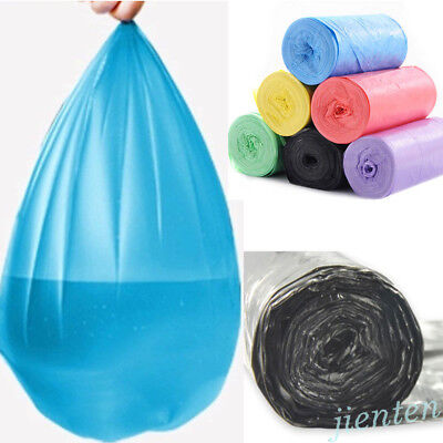 1 Roll 50Pcs Garbage Kitchen Toilet Waste Trash Clean Up Rubbish Bags Home Stout