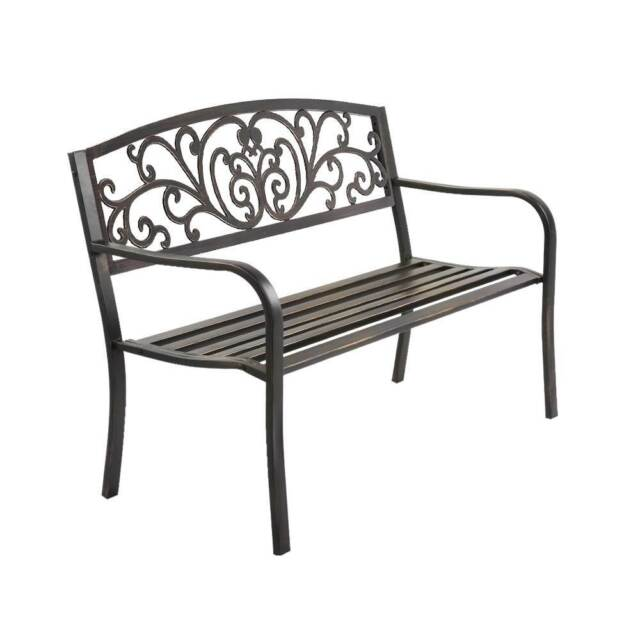Phenomenal Gardeon Cast Iron Garden Bench Bronze Outdoor Dining Caraccident5 Cool Chair Designs And Ideas Caraccident5Info