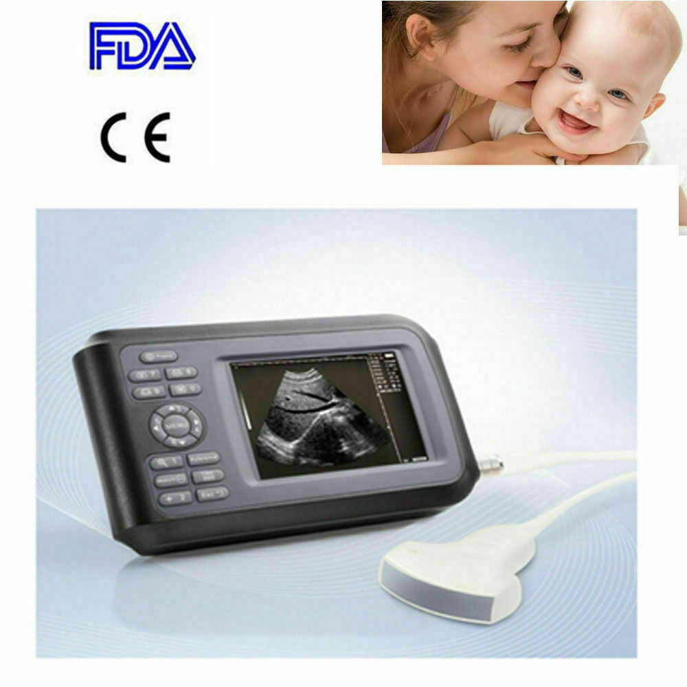 Best NEW FDA ULTRASOUND SCANNER MACHINE PREGNANCY HUMAN USE+3.5MHZ CONVEX PROBE PORTABLE