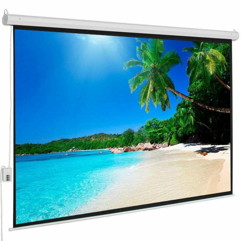 """100"""" 4:3 Electric Motorized Projector Projection Screen Automatic Remote Control"""