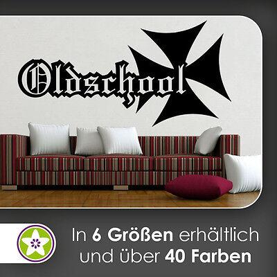 Große Eiserne Wand (waf1495 - KIWISTAR Oldschool Eisernes Kreuz Wandtattoo in 6 Größen)