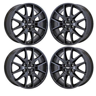 "20"" CADILLAC SRX BLACK CHROME WHEELS RIMS FACTORY OEM 2014 2015 2016 SET 4 4709"