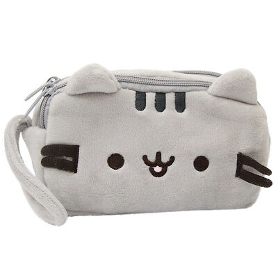 Cat Pencil Case Cute Plush Pen Bag Makeup Pouch Cosmetic Bag Kid Stationery Gift - Cat Make Up Kids