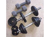 Home Weights (weight bar, lifting, dumbells)