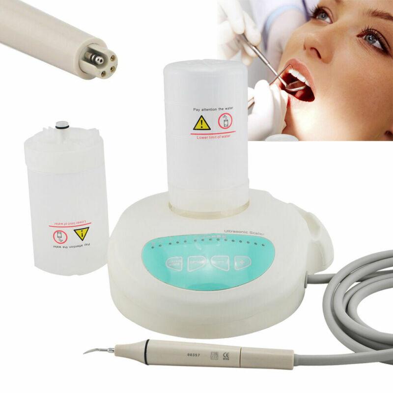 Portable Dental Piezo Ultrasonic Scaler Scaling Handpiece Tips Dosing 2 Bottles