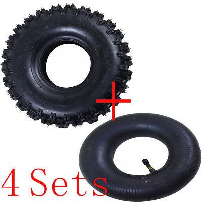 "4SET 4.10- 4"" Inch Rear Back Tire Tyre +Tube  49cc Mini Quad Dirt Bike ATV Buggy, used for sale  Dallas"
