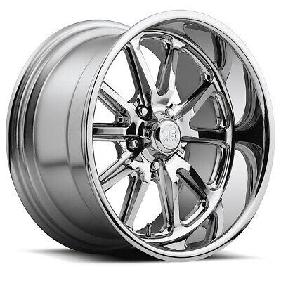 "Staggered US Mags U110 Rambler 18x8,18x9.5 5x127/5x5"" +1mm Chrome Wheels Rims"