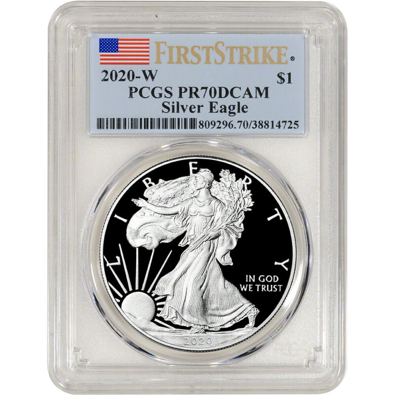 2020-W American Silver Eagle Proof - PCGS PR70 DCAM First Strike